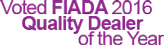 FIADA 2016 Quality Dealer of the year badge