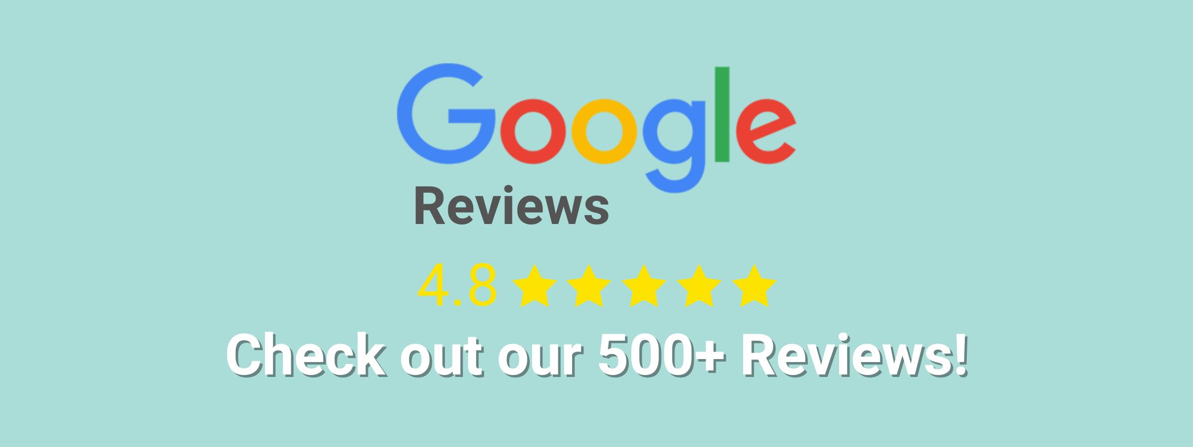 Google reviews 4.8 star rating used car dealer