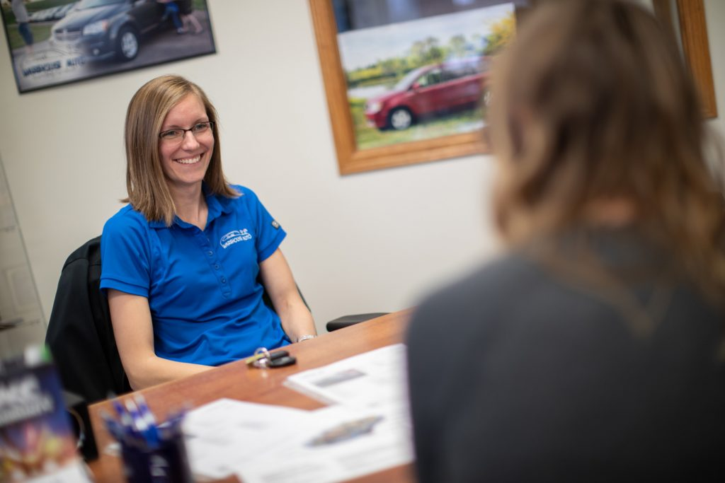 Amy at Warehouse Auto offering quality 3rd party certified cars, minivnans, suvs, crossovers, and trucks in Swisher, Iowa
