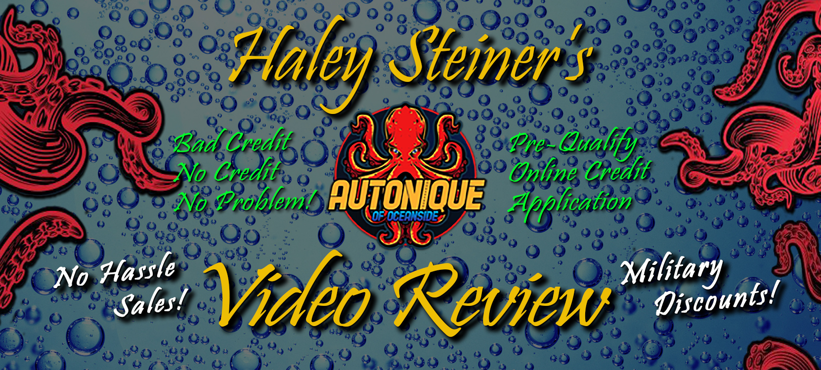 Customer Video Review provided by Haley S. about Autonique's Used Car Auto Dealership of Oceanside for people interested in Pre-Owned Used Cars around the Oceanside, California area.