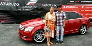 Edgar Aguilar. Mercedes C300 AMG