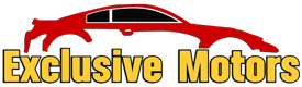 Exclusive Motors Auto Sales and Auto Repair Services Logo in Rocklin, CA 95677.