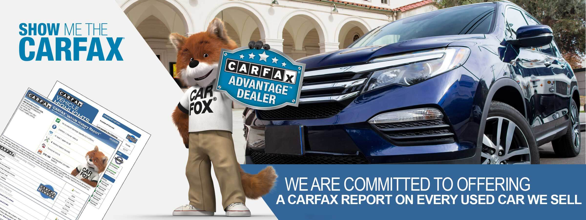 We provide free Carfax on every one of our used cars so you can buy with confidence