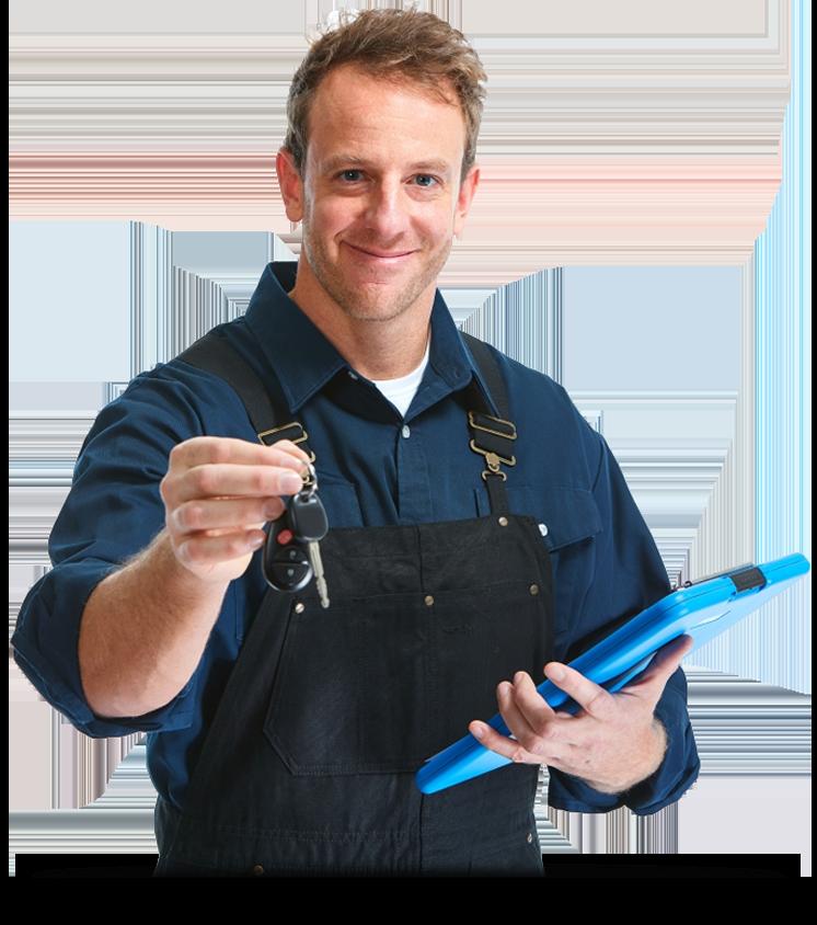 Mechanic Holding Keys