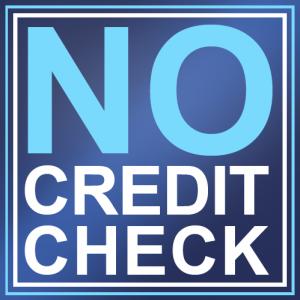 no credit check car loan blue logo