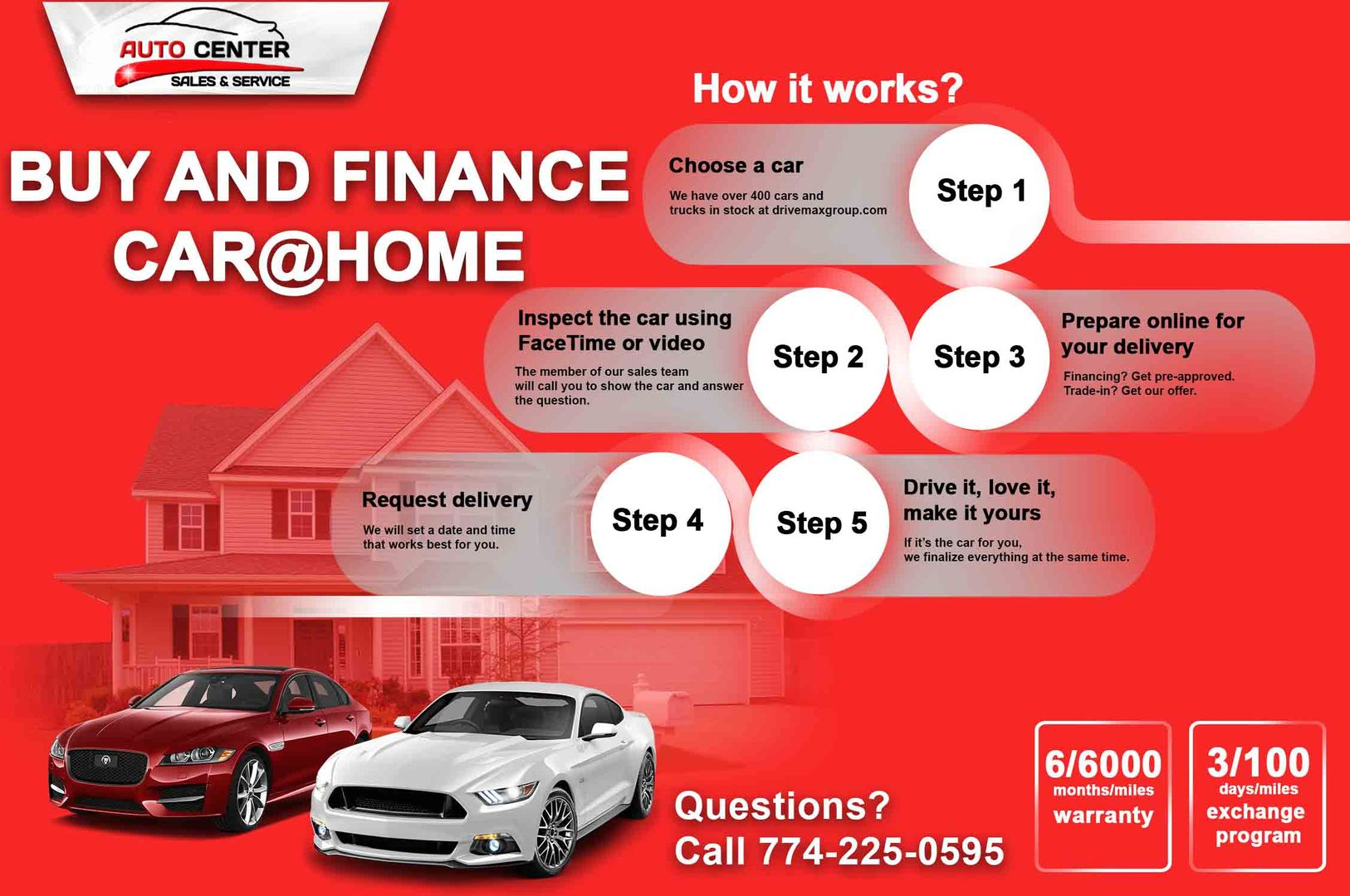 Buy and Finance Car at Home - Auto Center Sales & Service