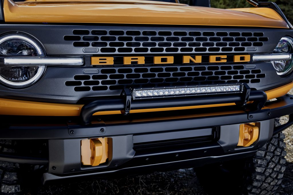 2021 FOrd Bronco Grill Evans Auto Blog