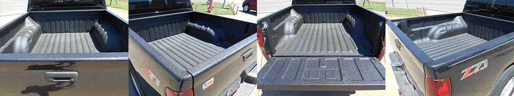now offering spray on bed liners and options to spray just about anything you need us to