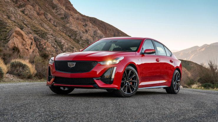 2020 Cadillac CT5 Sports Car Red