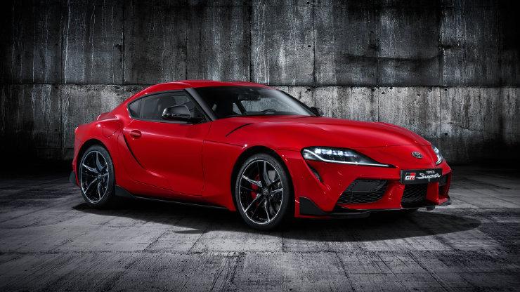 2020 Toyota Supra Sports Car Red