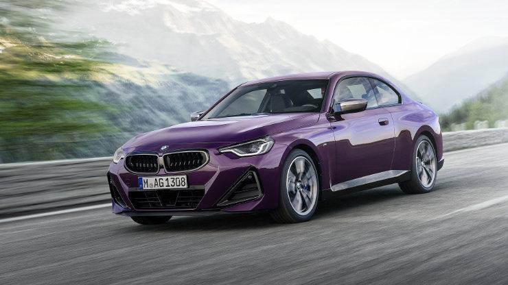 2022 BMW M240i Car Purple Color