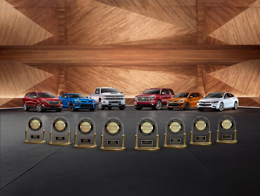 Chevy JD Power Awards