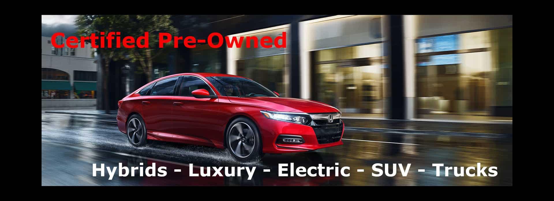 Certified Pre-Owned Hybrids, Luxury, SUV, Trucks in Orange County