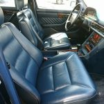 W126 560SEL front seats in blue