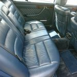W126 560SEL rear seats
