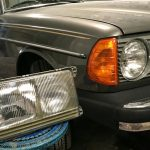 W123 Euro versus USA spec headlights