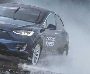 Nokian Winter Tires on a Tesla Model X