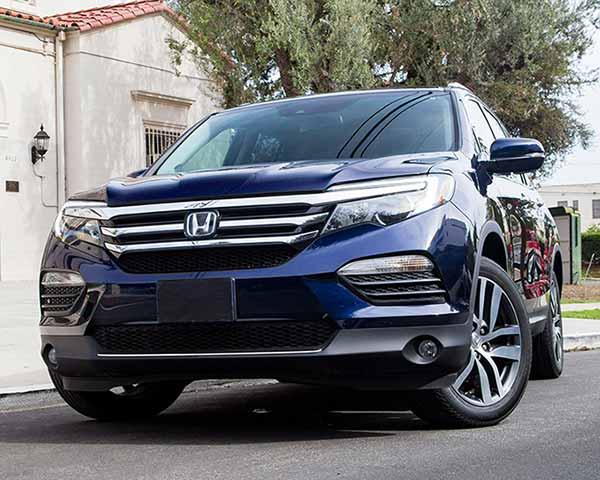 dark blue honda hybrid venture motor cars