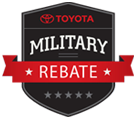 NHT toyota military rebate