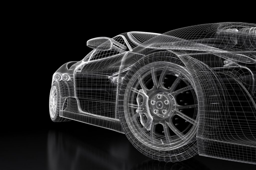 3D Rendering of a Car