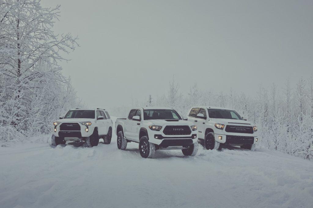 toyota vehicles in snow